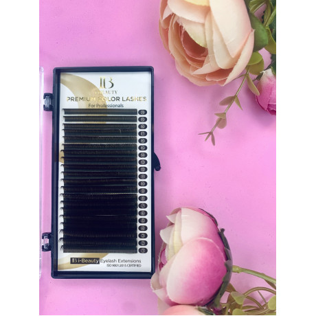 Ресницы I-Beauty, коричневые, 16 линий MIX СС 0.10 7-12