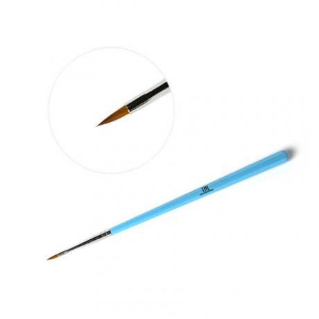 Кисть для дизайна Irisk тонкая голубая