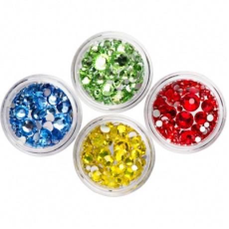 TNL Стразы цветные микс Д015-13-06