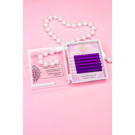 """Цветные ресницы Enigma """"Purple""""( 6 линий)"""