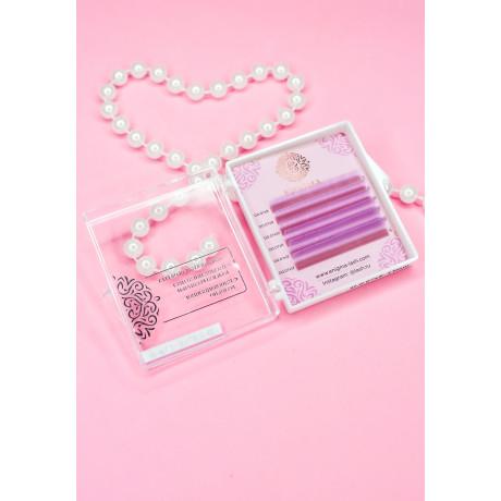 """Цветные ресницы Enigma микс """"Lavender"""" (6 линий)"""