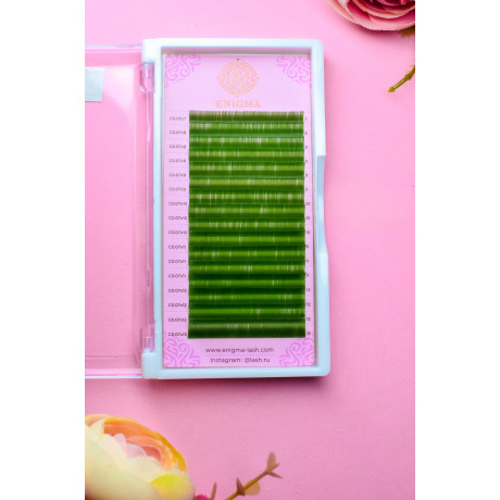 """Цветные ресницы Enigma  """"Зеленый"""" (16 линий)"""
