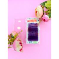 Цветные ресницы Lash&Go Purple микс (16 линий)  C / 0.07/7-14