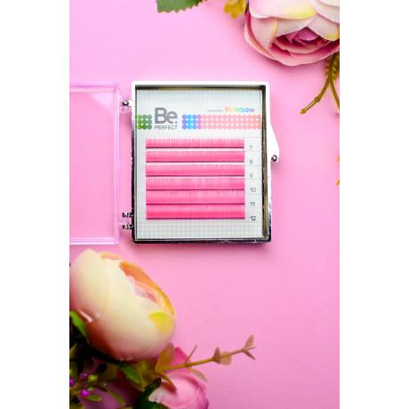 Цветные ресницы Be Perfect Rainbow (Pink) MIX (6 линий)