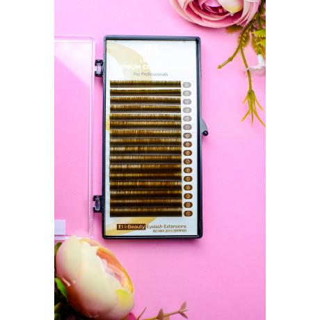 Ресницы I-Beauty, коричневые, 16 линий MIX
