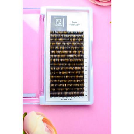 Колорированные ресницы BARBARA №1 (коричневые) МИКС