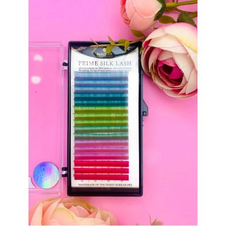 Цветные ресницы BEAUTIER(pastel) 16 линий