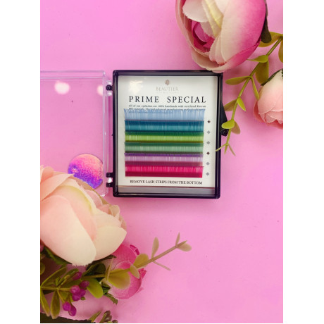Цветные ресницы BEAUTIER(pastel) 6 линий