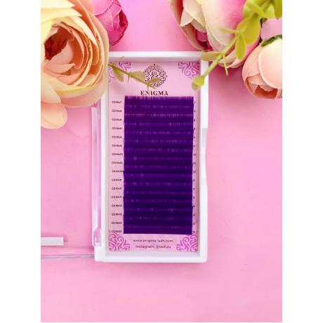 """Цветные ресницы Enigma микс 0.07/D/8-13 mm""""Фиолетовый"""""""