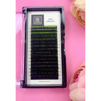 Омбре ресницы BARBARA (зеленые) МИКС (16 линий)